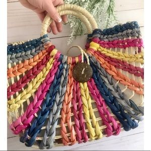 Colorful Straw Summer Clutch